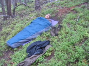Drew in his Bivy