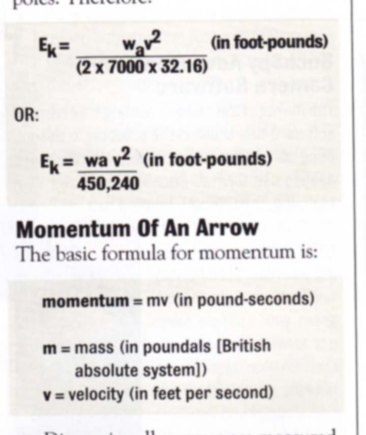 ArcheryTalk Articles & Blogs » Calculating Kinetic Energy and Momentum